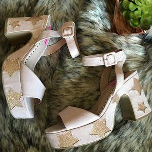 NEW | Betsey Johnson | Claude Stars Platform Heel